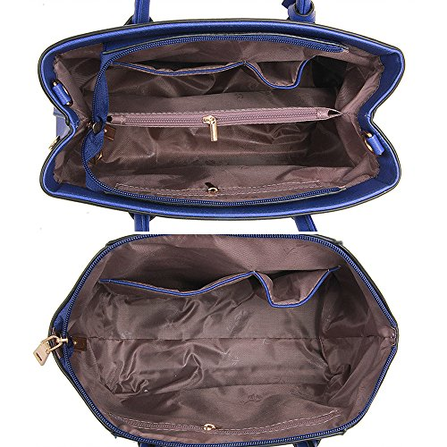 Borsa Tracolla Borse Da 6 set Donna Blu A On Carry Per Messenger Weekender rT5Bqrtwx