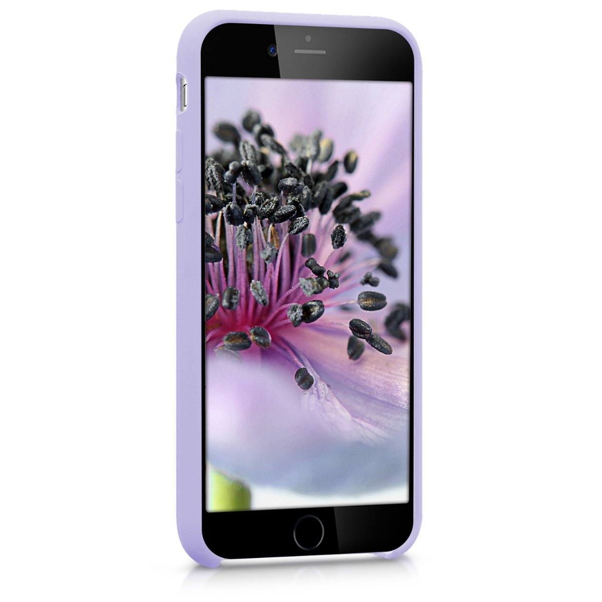 7be7abe989e Amazon.com  kwmobile TPU Silicone Case for Apple iPhone 6   6S - Soft  Flexible Rubber Protective Cover - Lavender  Cell Phones   Accessories