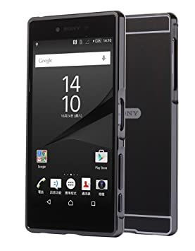FASHION CASES Estuyoya - Funda Espejo Compatible con Sony Xperia Z5 Premium Carcasa Trasera [Marco de Aluminio] Bumper Lámina Trasera PC Efecto Espejo ...