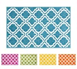 Small Rugs Small Rug Mat Doormat Well Woven Modern Kids Room Kitchen Rug Calipso Blue 1'8