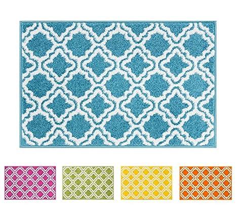Well Woven Small Rug Mat Doormat Modern Kids Room Kitchen Rug Calipso Blue  1u00278u0026quot