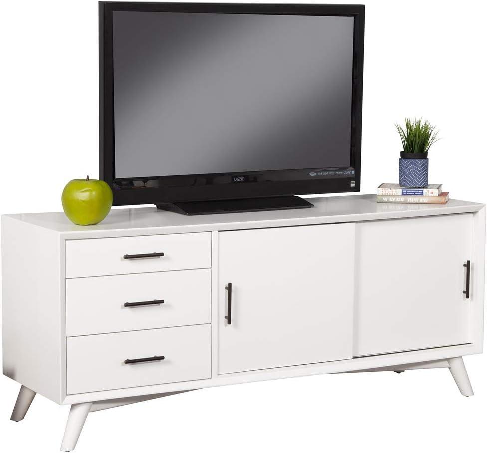 Alpine Furniture Flynn TV Console, White