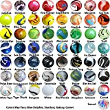 OnlineScienceMall Mega Marbles Player Bundle - Pack of 57 Different Styles in 14mm & 15mm