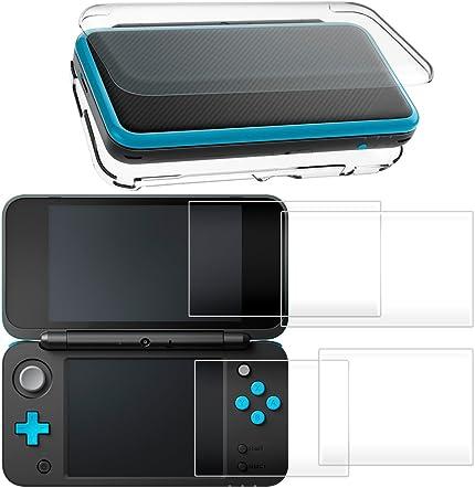 Amazon.com: Carcasa rígida para New Nintendo 2DS XL con 2 ...