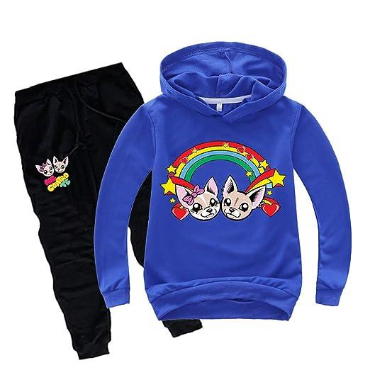 Felpa Me Contro Te Bambina Tuta Sportiva Bambino Unisex Felpe con Cappuccio e Pantaloni Maglia Bambini e Ragazzi Style 1
