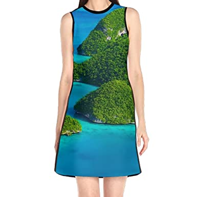 Hakalala Floral Dress Summer Dresses Island Green Blue Summer Beach