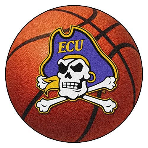 FANMATS NCAA East Carolina University Pirates Nylon Face Basketball Rug