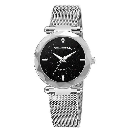 VEHOME Reloj de Lujo - Reloj de Cuarzo - Dial de Acero Inoxidable - Pulsera de Ocio-Relojes Inteligentes relojero Reloj reloje de Pulsera Marcas Deportivos: ...
