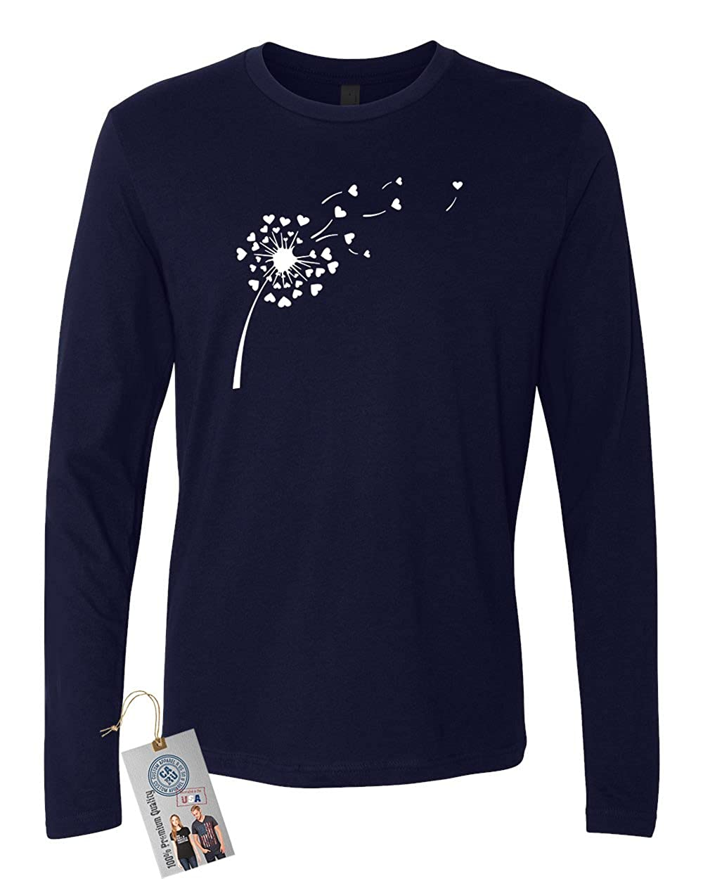 Valentines Day Dandelion Mens Long Sleeve