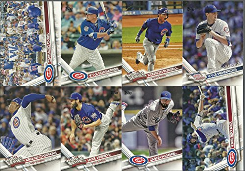 2017 Topps Series 1 & 2 Chicago Cubs Team Set 30 Cards Kyle Schwarber Anthony Rizzo Jake Arrieta John Lester Jason Hammel Kris Bryant