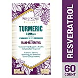Reserveage - Turmeric 500mg with Resveratrol, Antioxidants Support Inflammatory Response and Age Defying, Youthful Looking Skin with Organic Red Grapes, 60 Capsules