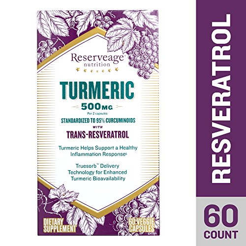 Reserveage, Turmeric 500mg with Resveratrol