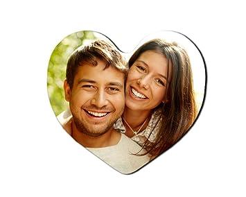 Imán Personalizado con tu Foto en Forma de corazón: Amazon.es ...