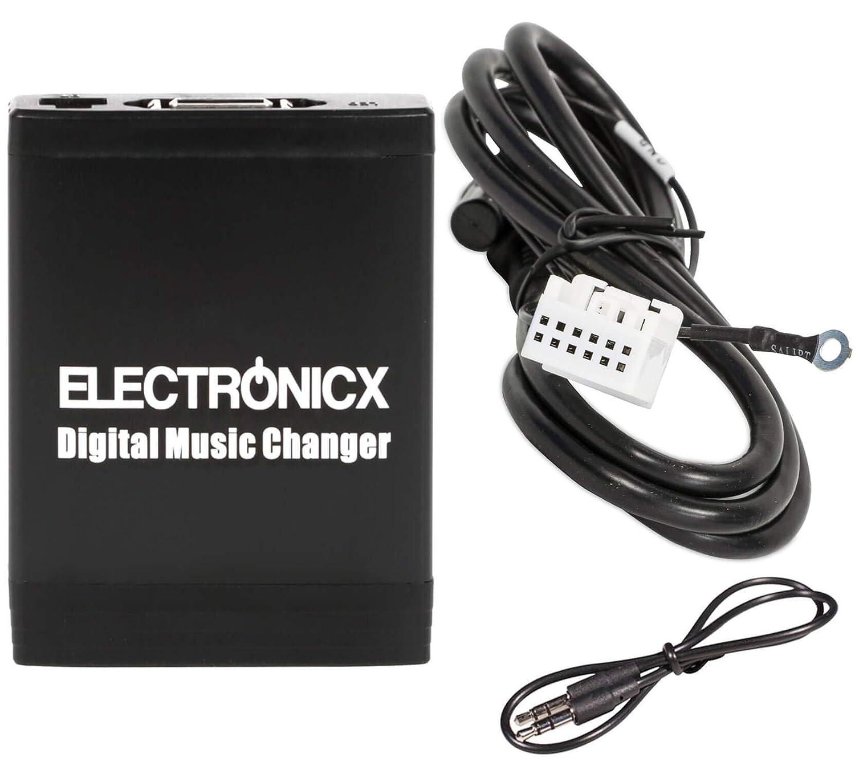 Adaptador de radio para coche USB SD AUX MP3 CD para VW Audi Skoda y Seat Beat Audi 12 pines carro auto