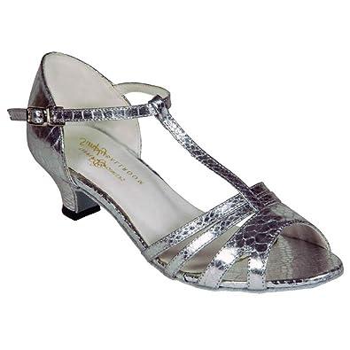 Tappers & Pointers - Zapatillas de danza para niña Plateado plata BpyAgI
