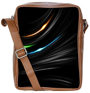 436b11f33be3 Snoogg Multicolor Light In Black Background Sling Bags Crossbody Backpack  Chest Daypack Travel Bag Book Bag