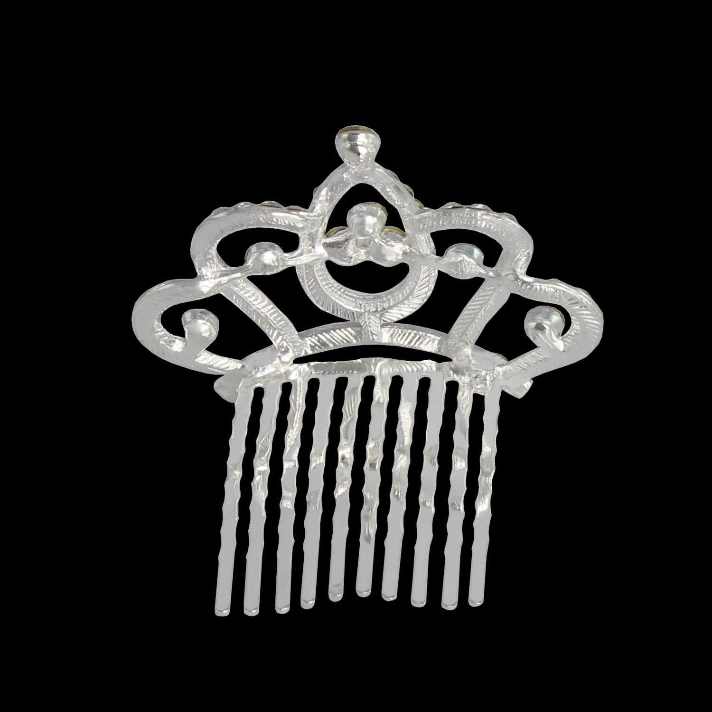 XiangGuanQianYing Princess Crown Comb Mini Tiara Hair Clips for Princess Party Favor 12 pcs