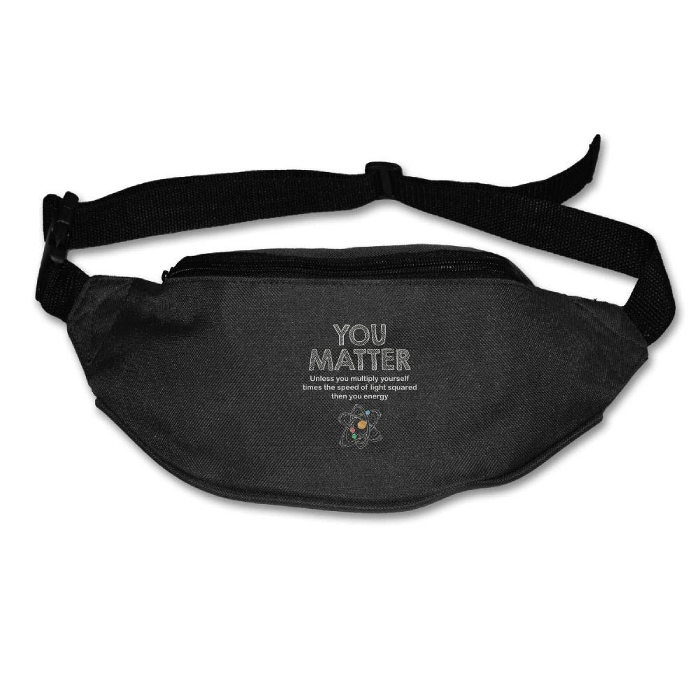 Ada Kitto You Matter Then You Energy  Mens&Womens Lightweight Travel Waist Bag For Running And Cycling Black One Size