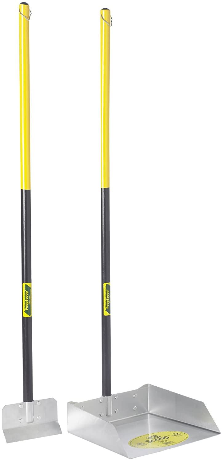 Flexrake 67W Large Scoop and Spade Set with 36-Inch Cherry Stained Wood Handle