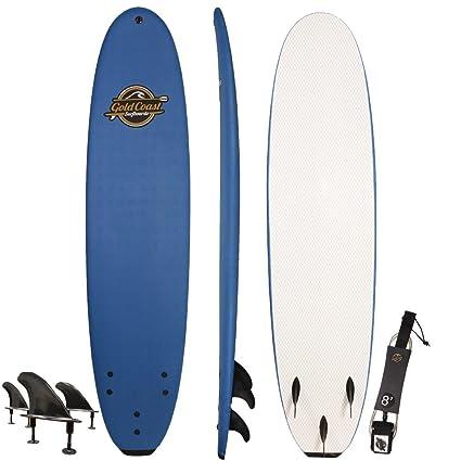 amazon com gold coast surfboards soft top surfboard 8 verve