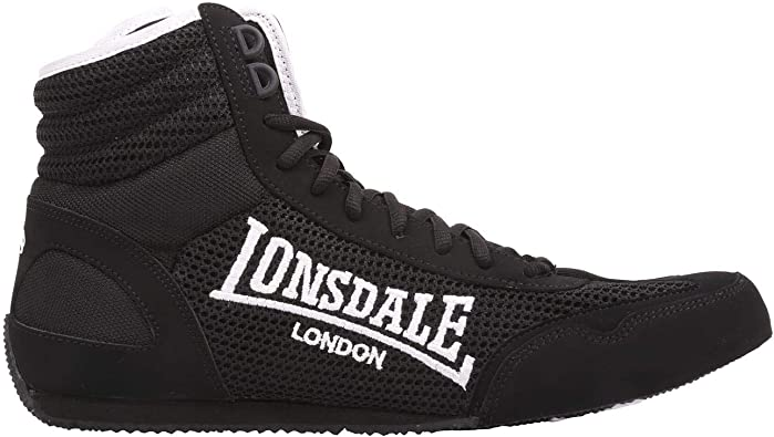 Mens Lonsdale Laced Quilted Mid Cut Contender Boxing Boots Sizes from 7 to 13
