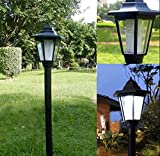 Royal Court Style Outdoor Garden Led Solar Lamp Post Lantern Stake Light Solar Powered Pathway Fence Yard Lighting White