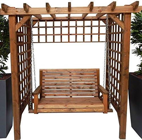 Armario de madera para jardín, arco de swing, asiento de pagoda ...