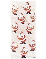 20 Christmas / Xmas Cello / Cellophane Party / Gift Bags (Twinkle Santa)