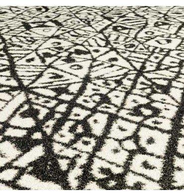 Teppich D außen Azulejo Vondom schwarz und weiß