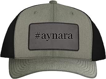 One Legging it Around #aynara - Leather Hashtag Grey Patch Engraved Trucker Hat