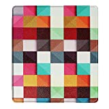 Happon Kindle Oasis 2017 Case,[ Shock Absorbent ] Leather Case PU Leather Kickstand Wallet Cover Durable Flip Case for Kindle Oasis 2017 Colorful Squares