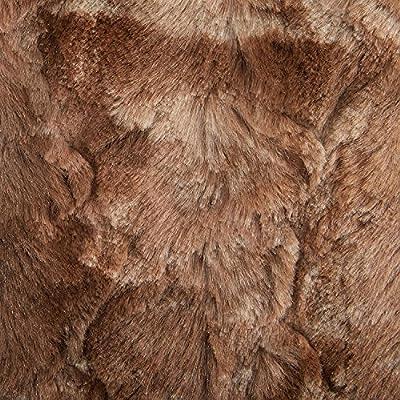 "Pinzon Faux Fur Throw Blanket 50"" x 60"", Alpine Brown"