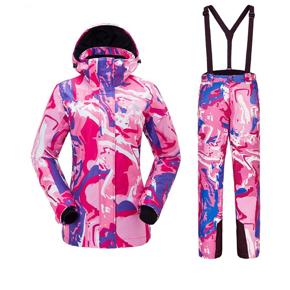 スキースーツスーツ女性の秋と冬シックなカップル寒い冬の防水ダブルボードスキーパンツジャケット (色 : C1, サイズ : XL)