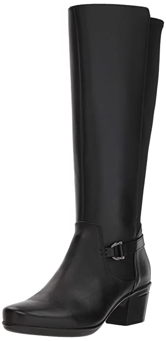 CLARKS Women's Emslie March Fashion Boot, Black Leather, 080 M US best women's knee-high boots