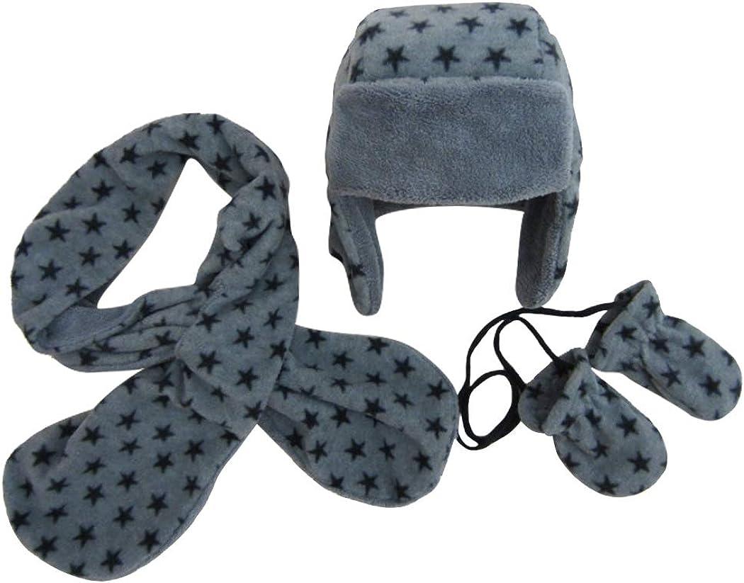 Estrellas Motivo gorro bufanda Guantes de punto 3pzs Conjunto Invierno Ni/ños Ni/ñas 6 meses a 10 a/ños Beb/é Sombrero gorra pa/ñuelo manoplas c/álido