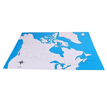 Buy NYLSA Montessori Geography Labeled Control Map Canada Control ...
