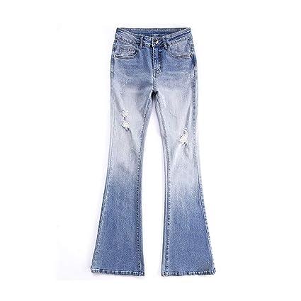Pantalones Ropa Vaqueros Campana Cintura Alta para Mujeres ...