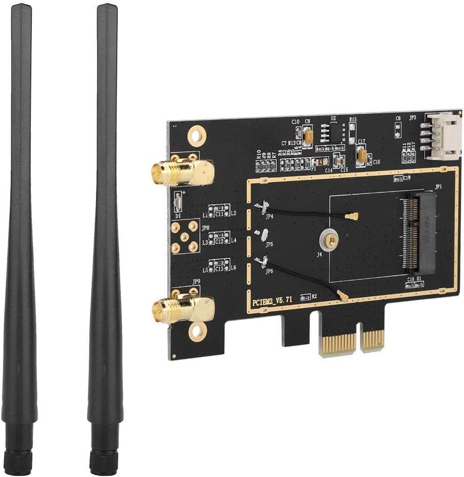 Simlug PCIe Wireless Wifi Card M.2 NGFF to PCI-E 1X Desktop WIFI WLAN Adapter Network Card Converter for 8260 7265 1535 7260