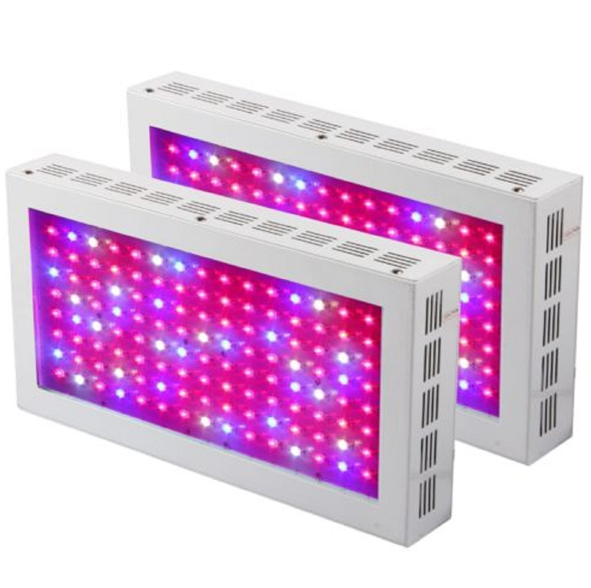 USA Premium Store WELLPAR 2PCS 600W LED Grow Light Panel Spectrum Indoor Hydro Veg Flowering Plant