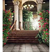 6.5 Ft5 Ft(200cm150cm) Beautiful Flower Palace Wedding Polyester Cotton Photo Background Customize Seamless Waterproof Printed Camera Photography Backdrop