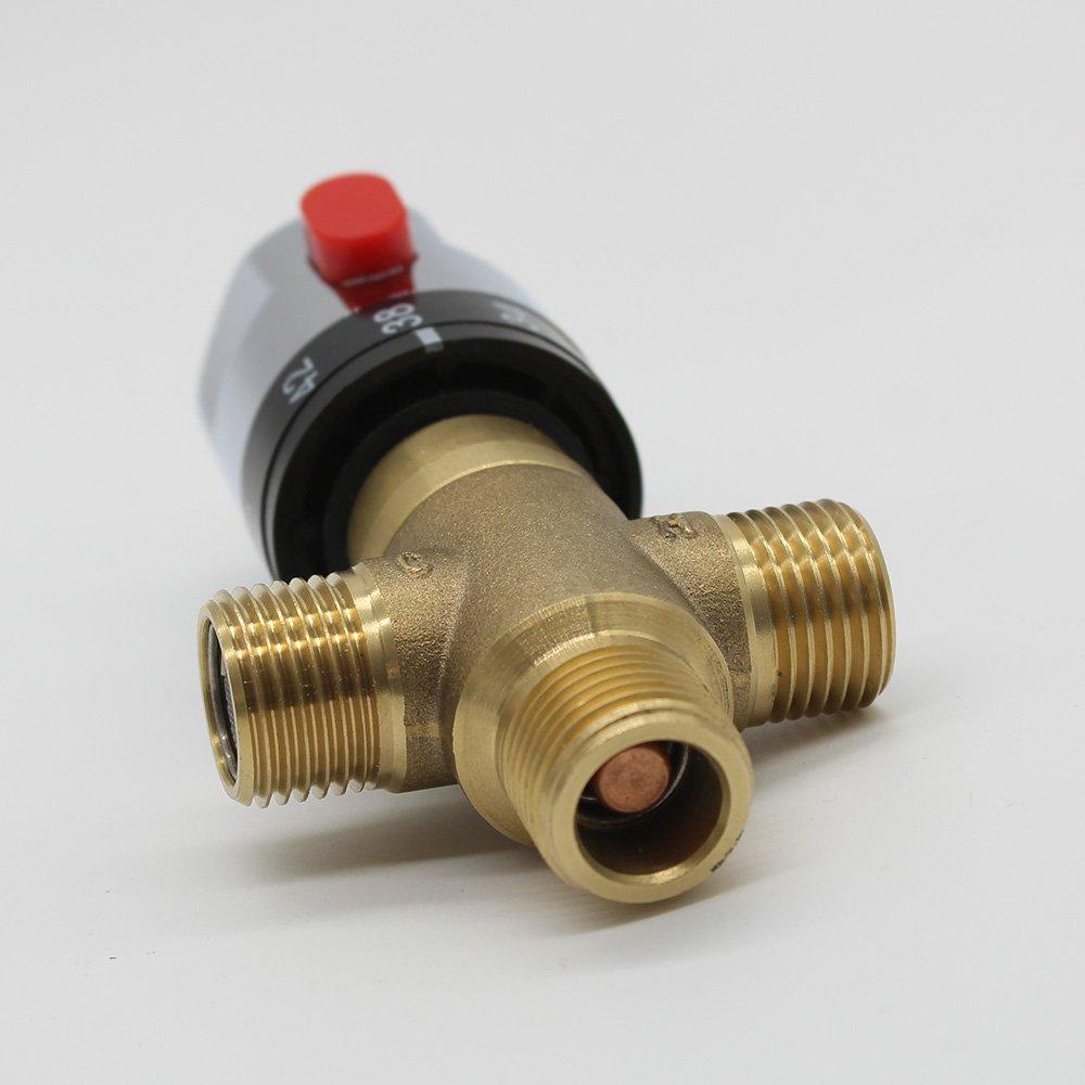 Mitigeur thermostatique solaire pour robinet de douche en laiton et cuivre