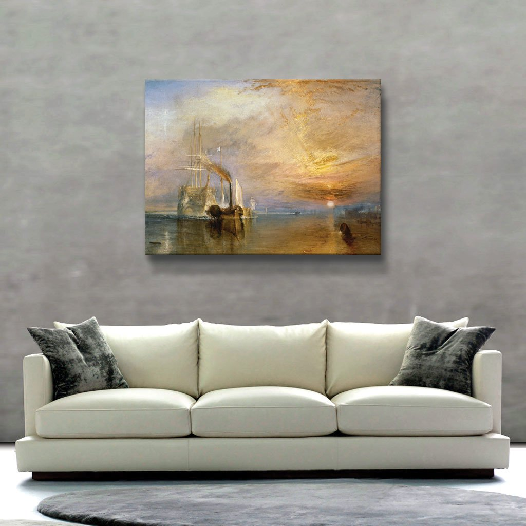 18 by 22-Inch turner-b-014-14x18 ArtWall The Fighting Temeraire Flat Unwrapped Canvas Art by William Turner