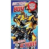 "Transformers""Birthday Boy"" Badged Birthday Card"