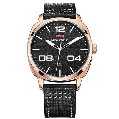 LYZwb Reloj De Pulsera Correa De Cuero para Hombres Calendario Moto Japonesa Estilo Deportivo Relojes Y Relojes 01 Caracol Negro: Amazon.es: Joyería