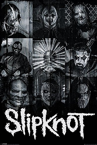 Slipknot - Music Poster/Print (Masks - Collage) (Size: 24 inches x 36 inches)