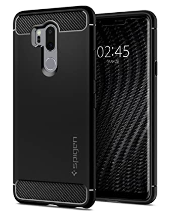 reputable site bbad4 2e2a0 Spigen Rugged Armor Works with LG G7 ThinQ Case (2018) - Black