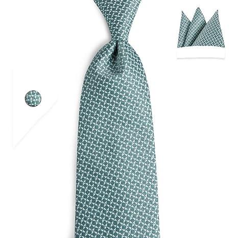 KYDCB Conjuntos de Corbatas Azul Marino Corbatas para Hombre ...