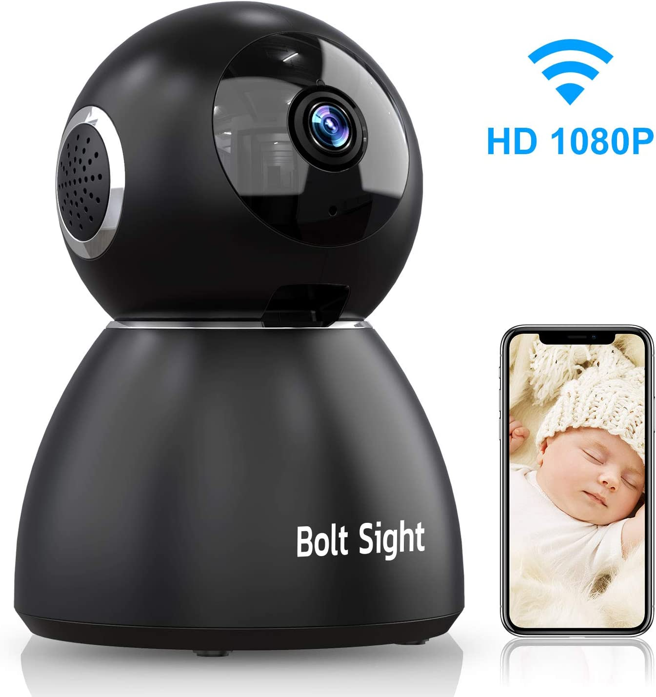 Indoor Home Security Camera WiFi – Pet Camera Two Way Audio and Video – Baby Monitor Dome Cam – HD 1080P 25Fps Upgraded Night Vision,Motion Sound Detection,Two-Way Audio,355 Angle for Home Security