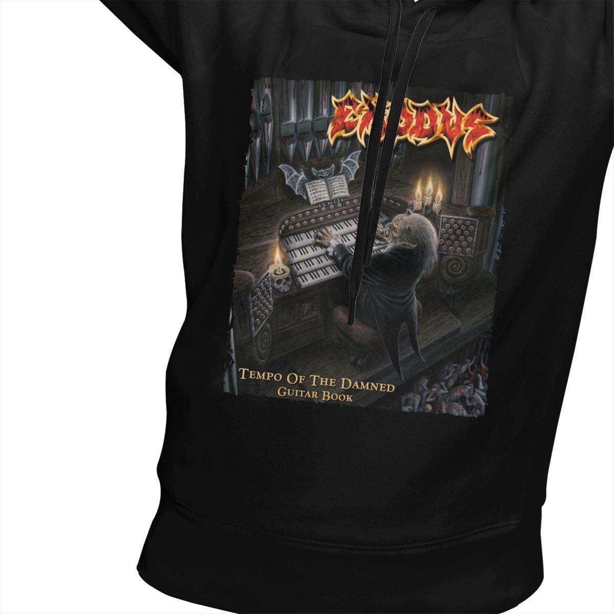 SUNBO Exodus Tempo of The Damned Women Hoodie Sweatshirt Black