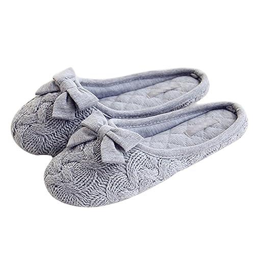 Tininna - zapatillas de estar por casa, con lazo, para otoño e invierno, calentitas, monas, de lana, antideslizantes, para mujer: Amazon.es: Zapatos y ...
